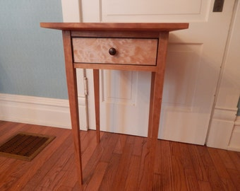 Shaker side table - solid cherry