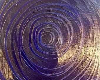 Blue circles 9X12