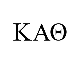 Kappa Alpha Theta decal vinyl window bumper Sorority greek letters laptop sticker available in 10 different sizes and 30 different colors