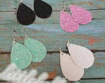 Shiny  Matte /  Glitter Faux Leather Earrings
