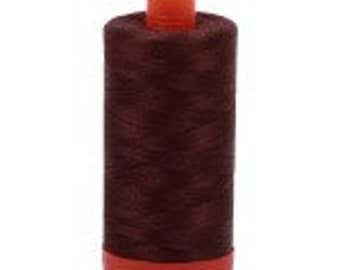 Aurifil Mako Cotton Thread Color 2360 (Chocolate), 50 wt, 1300m