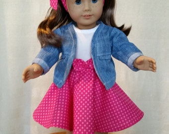 Rockin Round the Clock 18 in doll outfit or American Girl Doll clothes