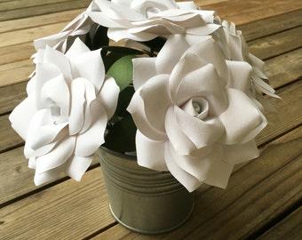 Paper bouquet, Paper flowers, Handmade bouquet, Paper roses, Home decor