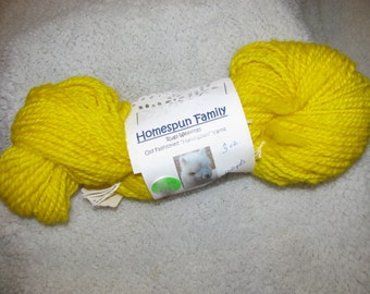 3 Hanks!  100 yards each hank. Hand-spun Alpaca yarn, Alpaca yarn-handspun,handdyed, Yellow Alpaca Yarn