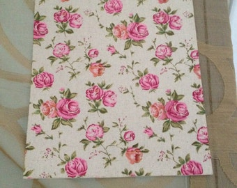 cotton fabric adhesive with vintage roses