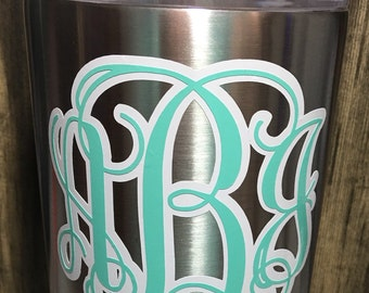 Double Layer Shadow Monogram Decal