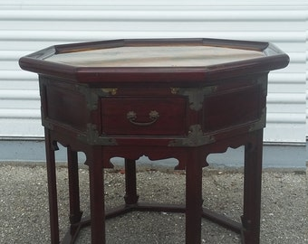Unique Octagonal End Table, made by Robin