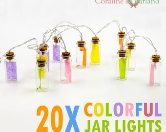 Glass Jar LED String Lights with 20 LED Lights Battery operated for Wedding Party Fairy Lights Christmas Decoration