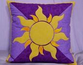 "Disney Tangled Rapunzel ""Sun"" - Applique 16x16in Cushion Cover - 1x1m Wall Hanging/Lap Quilt - Decor"