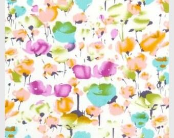Print Cotton Poplin - Poppy Orange 148cm wide.