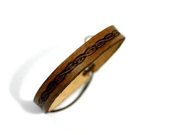 Leather bracelet  -- medieval antique & unique