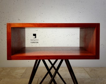 The Crossleg End table, mid century end table, contemporary end table, midcentury end table, modern industrial end table