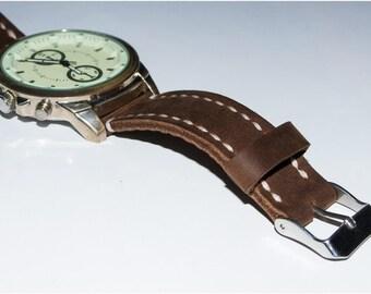 Brown leather watch strap 24 mm watch strap 24 mm watch band 20 mm watch strap 20 mm watch band Timex watch band Custom watch strap 22 mm