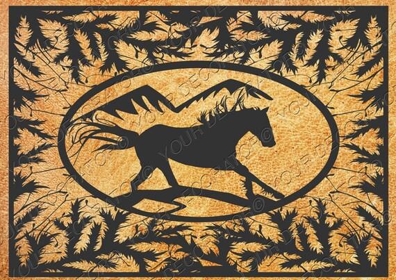Horse template for DIY, vinyl, wood, wall decor, wall clock, sticker ...
