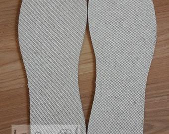 NEW ! Shoe insoles 100% linen flax antibacterial hypoallergenic 1 pair