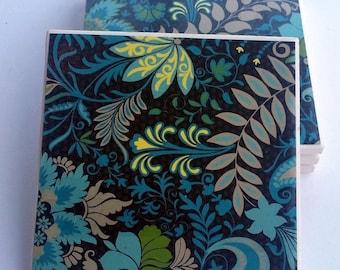 floral design ceramic coasters
