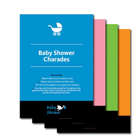 baby shower charades fun printable charade baby shower game