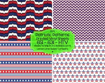 Patriotic Patterned Vinyl/Printed Heat Transfer Vinyl/Pattern Vinyl/Printed 651 Vinyl/Printed 631 Vinyl/Printed Outdoor Vinyl/Printed HTV