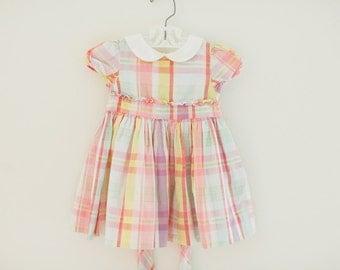 Ralph Lauren Girls Dress, Plaid Girls Dress, Peter Pan Colar Girls Dress