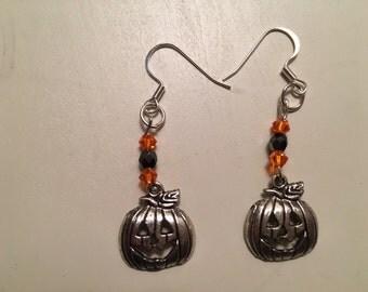 Halloween Pumpkin Pierced Earrings
