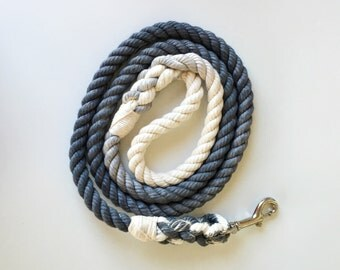 Sharkskin Ombre Rope Dog Leash