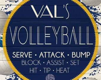Custom Volleyball Sign Digital Download
