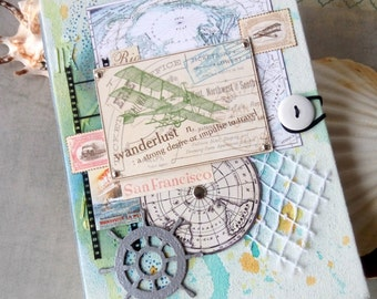 Travel Sketchbook, Travel Notepad, Notebook, sketchpad, jotter,   writing-pad, scratchpad, scrapbook
