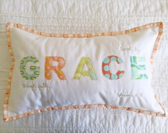 Word Pillow // GRACE