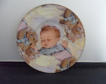 Collectible Plate - Precious Sleeping Baby - Sleeping Child Picture