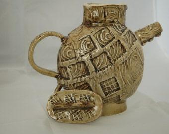 Handmade Ceramic tea kettle
