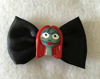 Nightmare before Christmas Sally bow hair clips