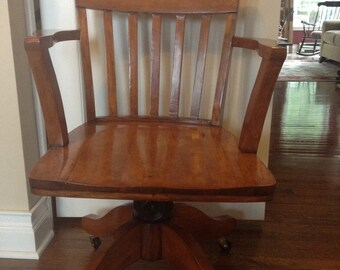 Antique Maple Banker's Chair