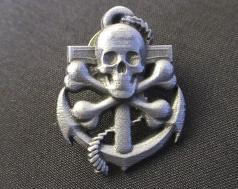 Skull And Anchor Pin