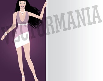 Clip art-Vector-sexy Woman-for personal or commercial use