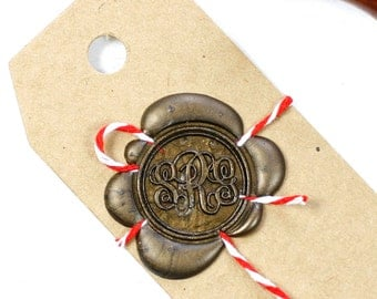 Custom wax stamp 25mm stamp, initial stamp, monogram seal stamp