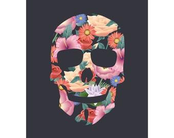 FLOWERS 03 SKULLIT Printed version