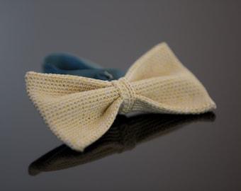 crochet bow tie 100% silk
