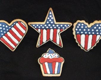 Patriotic Sampler Cookies - 1 Dozen