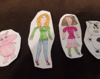 Vegan Paper Dolls