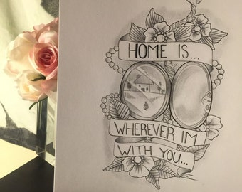 """8x11 print of """"home is where the heart is"""""""