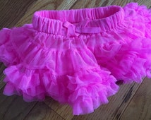 Baby Girls Pink Tutu Skirt, Infant, 0-3 months, neon pink, pageant skirt