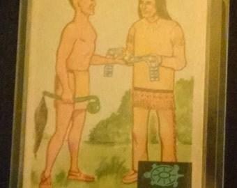 """Fleer Indian Trading Card """"Wampum Belt"""" 1959 Vintage"""