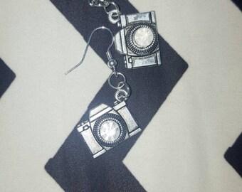 Camera earrings photographer earrings vintage cameras