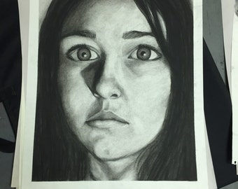 Potrait in charcoal