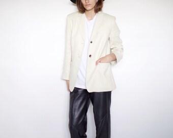SALE *** Vintage Women linen blazer | size 4 - small