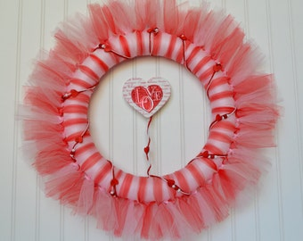 Valentine Tulle Wreath