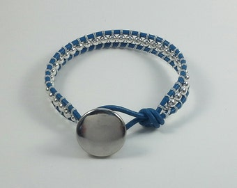 Single wrap leather bracelet