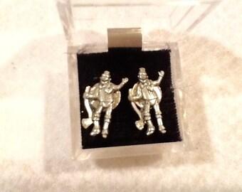 Tin man earrings