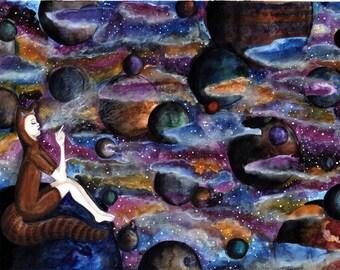 Trippy art , galaxy painting , surreal art , psychedelic art , stoner art , galaxy art , weed art , original galaxy painting , colorful art