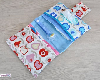 Diaper bags diaper bags baby care in white with red and blue apples